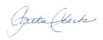COPAFS Cynthia Clark signature